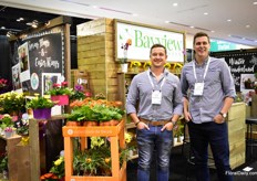 Collin Szmyryala and Stuart van Staaalduinen of Bayvief flowers. These Canadian potted indoor blooming plant growers. They also supply their plants with added value products.