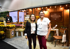 Katalina Parga and Cathy McClinto of Kendal Farm. They grow cut flowers in San Diego (FL).