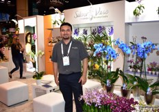 David Perez of Silver Vase. They grow orchids and bromeliads.