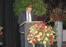 Richard Fox, Union Fleurs president, with a word of welcome