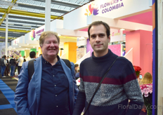 Peter Cox and Mario Kurt Gigerl of pheno geno Roses were also visiting the show.