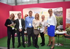 Our Floricultural Team at the FloralDaily booth. From left to right: Claudine Beldman, Eddy Huismans, Michael Miller, Elita Vellekoop, Priscilla Heeffer and Annet Breure.