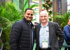 Sachin Appachu of Bliss Flora (grows roses in Kenya) with Rob Letcher of De Ruiter Innovations.
