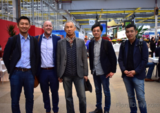 The team of Kaneya and Jeroen Oudheusden of FSI (second on the left) were also visiting the show,