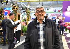 Sulaiman Aloqaibi of United Flowers from Saudi Arabia was also visiting the show.