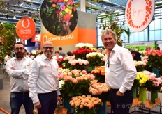 Dümmen Orange. From left to right: Luis Cervantes, Production Manager Carnations and fillers, Ricardo Monzon, Crop Specialist and Area Manager Asia and Ted van Dijk, Area Manager Eastern Europe, Middle East for pot, bedding plants, perennials, succulents.