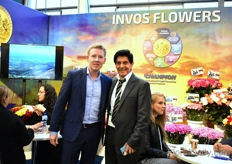 Kuno Jacobs of Nova Exhibitions togetehr with Oscar Silva Montejo from Invos Flowers Export.