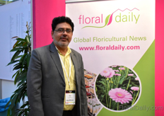 M.B. Naqvi of Floriculture Today was also visiting the show.