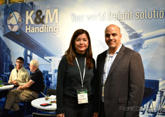 Margarita Valencia and Karel Alvarez of K&M Handling (The K stands for Karel and the M for Margarita). This Cargo Agent ships flowers from Colombia overseas and also has a warehouse in Miami.