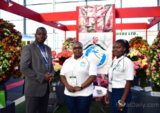 Nicholas Ambanya, Victoria Kung'u and Angeline Abuti of Magana Flowers, a Kenyan rose grower. Two years ago, Ambanya has been brought on board by the Magana board to consolidate and drive the efforts to take the business to the next level.