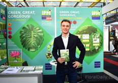 Torben Brinkmann of IPM Essen. The IPM Essen will be held from January 22-25 in Essen, Germany. Next to the IPM Essen, he promoted more shows that they are organizing, like the Hortiflorexpo IPM Shanghai (April 20-22, 2019 in Shanghai, China).