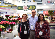 Lucia Carrion, Eduardo Letort and Adela Sola of Hoja Verde, one of the five growers of Toffee. Besides that, they are also preserving roses and making chocolate.