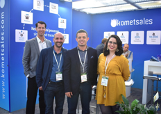 Part of the team of Komet sales. They are exhibiting at the IFTF for the first time as they are eager to venture into the EU.