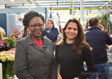 Florence Didy and Birajs Williams of Harvest Limited. These rose growers from Kenya were also visiting the show.