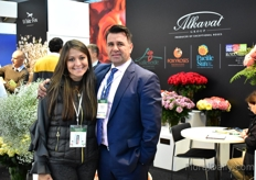 Ketherine Herdoiza and Alberto Cantillana of Alkavat. In 2018, they have grown a lot (10%). Now, they grow on 108 ha with over 206 varieties. They mainly grow roses.