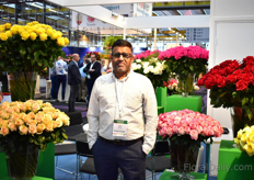Sujit Kalathil of Hansa Flowers, a rose grower from Ethiopia.