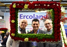 Guiseppe Viscardi of Viaflor, Sal Ercoland of Ercoland Flora and Alberto Longoberde of A.L. Soc. Agr. ARLS.