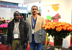 John Adega and Anantha Kumar of Isinya Roses. These Kenyan rose growers planted 7 new varieties recently. Ever Red one of their best sellers. They have 15 ha of it planted and are eager to expand.