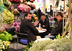 Mohan Choudhery of Black Tulip Kenya (in the middle) talking with visitors.