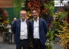 Cees Admiraal and Peter Glasbergen at their well decorated stand