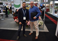 Alejandro Perez from Komet Sales and Vincent Mollenman from Enigma Flowers.