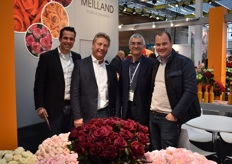 On the left we got Hidde from Parfum Flowers Company and Sjaak from Meilland Roses and Creations. On the right we see Bruno Etavard and Wouter also from the Parfum Flower Company.
