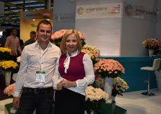 Carola and Jeroen from Interplant. Interplant presented their new image this fair!