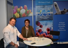 Loes Beelen from IAA Fresh having a nice chat with Ad Obdam.