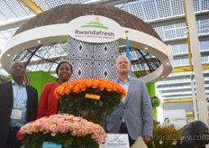 Sandrine Urujeni of NAEB, Victor Omuga of Bella Flowers and Willem Versteegh of the Embassy of the Republic of Rwanda