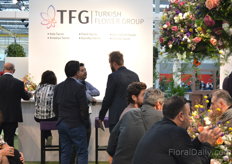 Busy at the booth of Turkish Flower Group