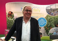 Frans Diedens of Yalkoneh Flowers. He grows hypericums in Ethiopia and was visiting the show.