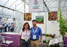 Josh Kirschenbaum of PanAmerican Seed and Paulina Lee of Akiko. This Mexican company represents several Dutch and North American breeders, one of them is PanAmerican Seed. At the show, they are introducing the new Hand Picked program of PanAmerican Seed.
