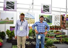 Tropical plants and succulent growers Jorge Gutierrez de Veasco and Eduardo Gutierrez de Velasco. They started growing succulents five years ago and it is currently their best selling crop.