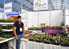 Eduardo Tonachua Arenas Fimenez of Yinztli grow succulents in Mexico City and grows varieties from all over the world.