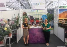 The FloralDaily and HortiDaily team was also present at the Expo Agroalmentaria. On the photh: Elita Vellekoop and Priscilla Heeffer .