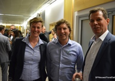 Marille van Leeuwen and Wilco Verkuil of Signify, with Rick Kroon of Anthura