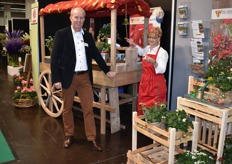 This year in Bloom's presentation: Ger Bentvelsen of ABZ Seeds with his wife Anneke. They made sure everyone could enjoy their delicious strawberries.