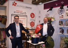Jeroen v. Dillewijn and Dirk-Jan Lambooy presented amongst other things new Fair Trade flower food and a wide assortiment of sleeves and packaging.