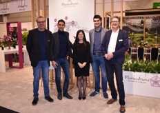 Joop de Boer, Niels Kuiper, Wu Yi, Marco Heijnen and Mark Eijsackers of Floricultura launched their Elastica concept at this year's IPM.