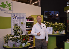 Gert-Jan Kromhout with Klavervier Plantsales was at the show for his customers, including Hoogendoorn Stephanis & Amarantis.