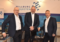 Willburg Projecten, represented by Paul Rademaker, Mark vd Zanden & Adrie v Diemen. They were presenting a new 3D sorting system.