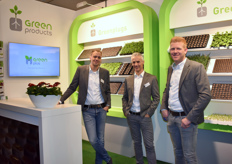 The team with Green Products: Matthijs vd Berg, Onno Boeren, Jan Dons and the Green Plugs of course!