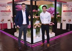 Brothers Joost and Koen Groot with Groot & Groot, specialising in cut flowers and peony plants. Currently there's over 120 species in their assortment.