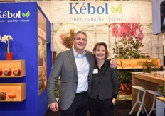 Wim Zandwijk together with Anne Marie van Kebol, together in the booth of Kebol.
