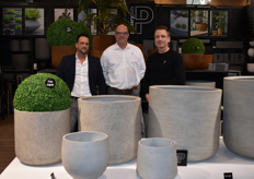 The new collection of Pottery Pots, presented by Elmor Vrolijk, Rogier Schafraad and Ronald Luurtsema