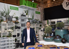 Marco Hartensveld represented NDT International which has a wide product range of indoor and outdoor pottery.
