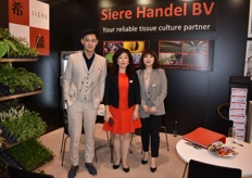 Pey Yin, Xi Chen and Yi Li from Siere Handel represented their tissue culture at the expo.