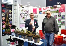 Jean-Yves Coulbault and Christophe Camus of Sicamus presenting their printed pots. They introduced them last year and the demand has been very good.
