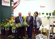 The Fleurizon team that was present at the IPM Essen, from left to right: Michael Unger, Frank de Greef, and Dimitris Dimitrou.