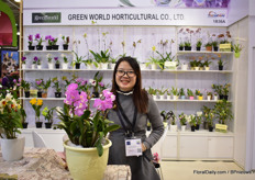Emily Ko of Greenworld, a Taiwanese young plant and tissue culture producer. Last year, they supplied 3 million flasks.